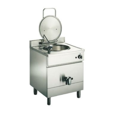 Commercial Boiling Pan. 50+50 Litre. Steam. Indirect. Icos BPFC.V 50+50