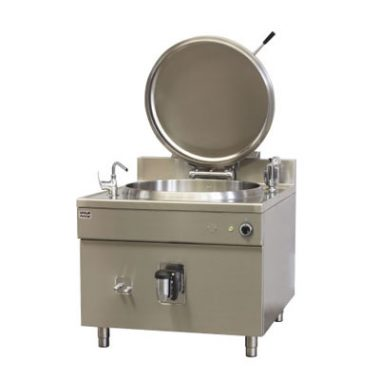 Commercial Boiling Pan. 150 Litre. Steam. Square. Icos PQF.V 150/N