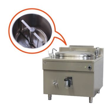 Commercial Boiling Pan. Mixer. 500 Litre. Steam. Icos PQFM.V 500/N