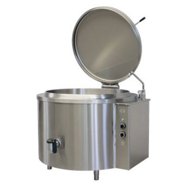 Commercial Boiling Pan. 100 Litre. Round. Steam. Icos PTF.V 100/N