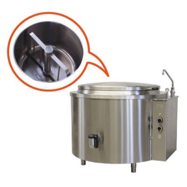 Commercial Boiling Pan. 100 Litre. Mixer. Steam. Icos PTFM.V 100/N